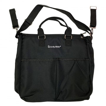 Lucky Baby® Tote Diaper Bag - BLACK