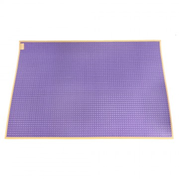 Air-Filled™ Rubber Cot Sheet(Plain) - Purple/Orange
