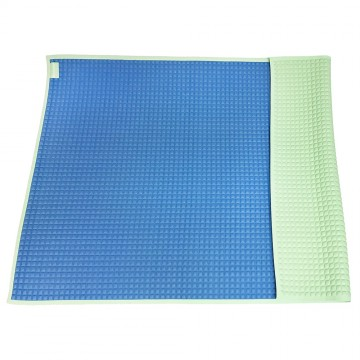 Air-Filled™ Rubber Cot Sheet(Plain) - Blue/Green