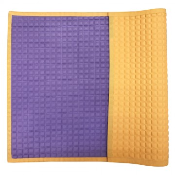 Air-Filled™ Rubber Cot Sheet(Plain S) - Purple/Orange
