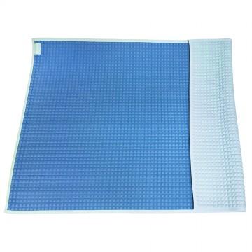 Air-Filled™ Rubber Cot Sheet(Plain M) - Blue/Blue