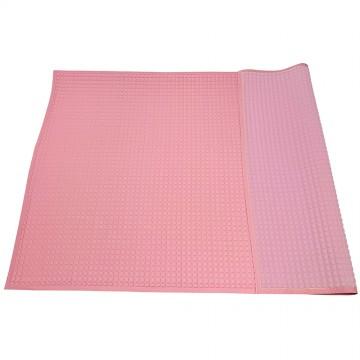 Air-Filled™ Rubber Cot Sheet(Plain M) - Pink/Pink