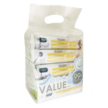 Ultra Delikit™ Natural Wipes for Top to Toe (Value pkt)