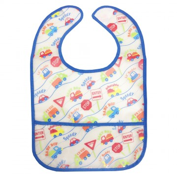 Starter Eezee™ Clean Bib W/Crumb Pocket - Boy