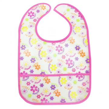 Starter Eezee™ Clean Bib W/Crumb Pocket - Girl