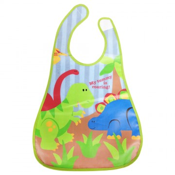Style Eezee™ Clean Bib W/Flip Crumb Pocket - Safari