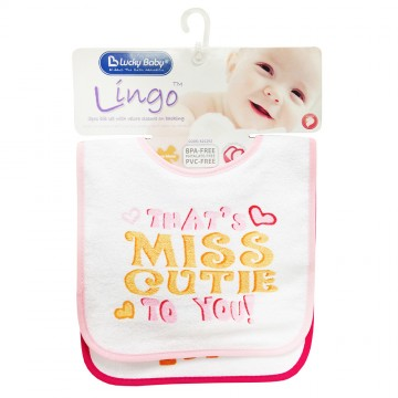 Lingo™ 2pcs Fun Bib - Girl