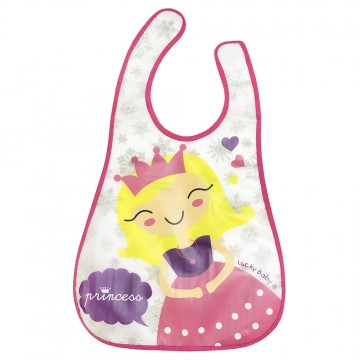 Stylo Eezee™ Clean Bib W/Flip Crumb Pocket - Princess