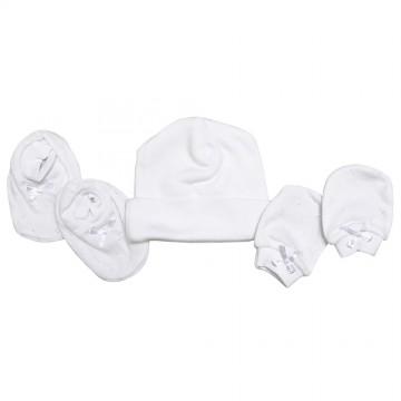 Preemi™ Hat, Mitten & Bootees Set - Jacquard A
