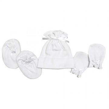 Preemi™ Hat, Mitten & Bootees Set - Jacquard B
