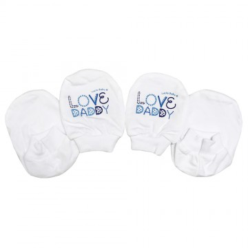 New Born Mitten & Bootees Set - I Love Daddy