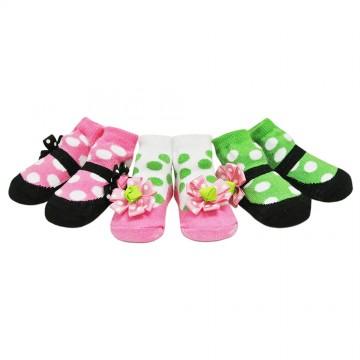 First Soks™ 3 Pairs Hippy Socks Gift Set - Girl