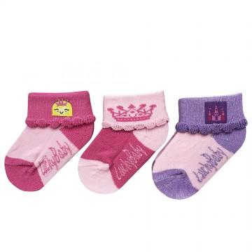 First Soks™ 3 Pairs Baby Socks - Princess