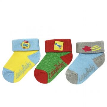 First Soks™ 3 Pairs Baby Socks - Robot