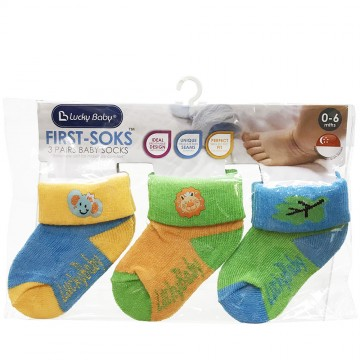 First Soks™ 3 Pairs Baby Socks - Elephant