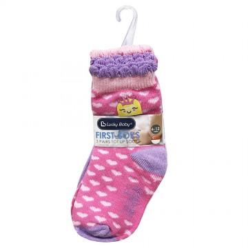 First Soks™ 3 Pairs Tot Up Socks - Princess