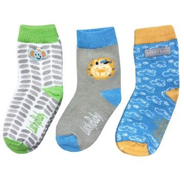 First Soks™ 3 Pairs Tot Up Socks - Elephant