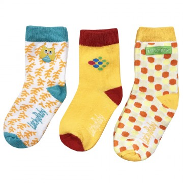 First Soks™ 3 Pairs Tot Up Socks - Owl
