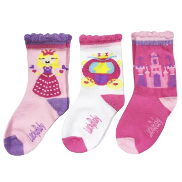 First Soks™ 3 Pairs Tot Socks - Princess