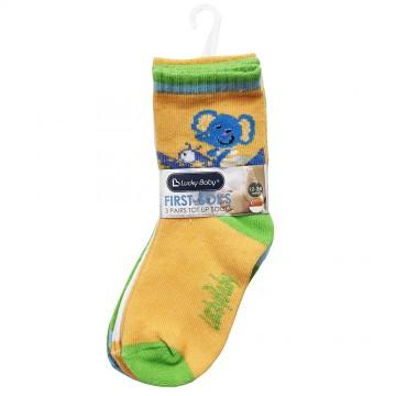 First Soks™ 3 Pairs Tot Socks - Elephant