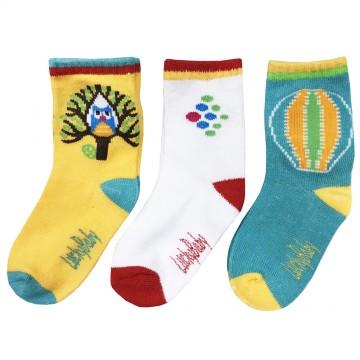 First Soks™ 3 Pairs Tot Socks - Owl