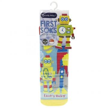 First Soks™ Tot Up Socks - Robot