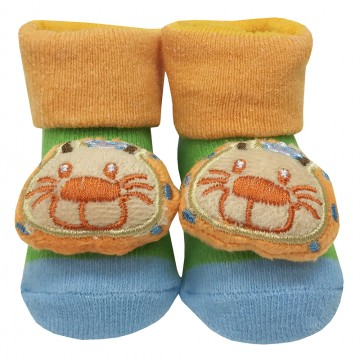 First Soks™ Fold Up Socks W/Rattle - Lion