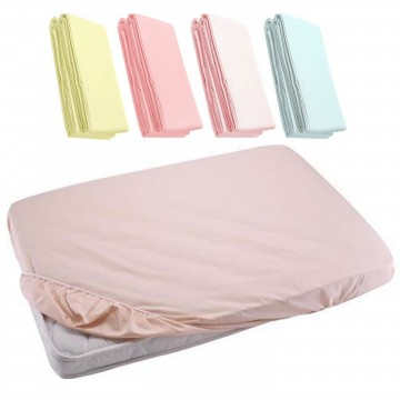 Fitted Sheet For Baby Cot - Light Pink 27x52