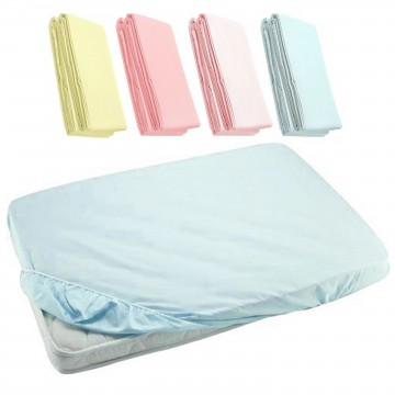 Fitted Sheet For Baby Cot - Blue 27x52