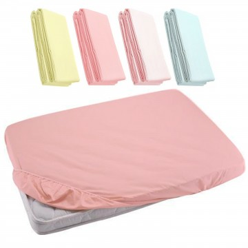 Fitted Sheet For Baby Cot - Dark Pink 27x52