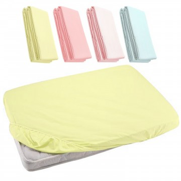 Fitted Sheet For Baby Cot - Yellow 27x52