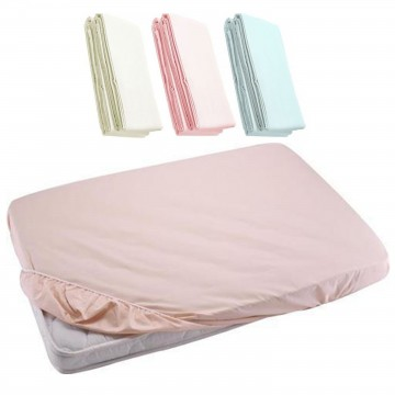 Fitted Sheet For Baby Cot - Light Pink 24x48