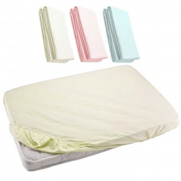 Fitted Sheet For Baby Cot - Cream 24x48