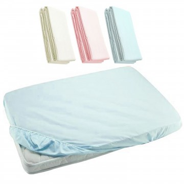 Fitted Sheet For Baby Cot - Blue 24x48