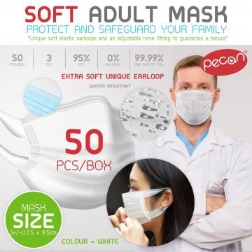 A.Adult Earloop 3Ply Face Mask - 50pcs/box
