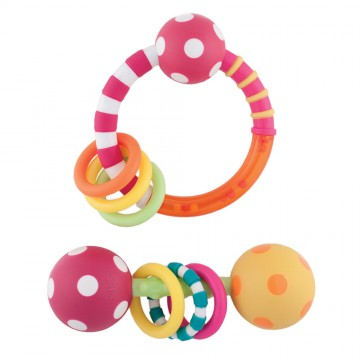 Ring & Polka Dot Rattle Combo Pack
