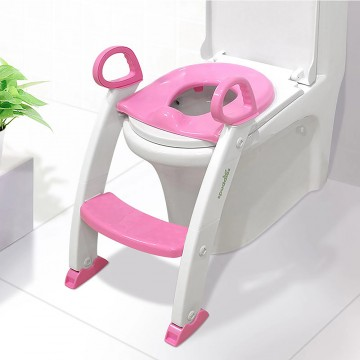 Step Stool Ladder - Toddler Toilet Chair (Pink)